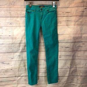 Lucky Brand Kids Size 12 Green Zoe Legging Denim